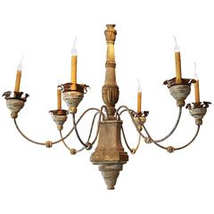 Manufactured Italian Style Six Candle Chandelier