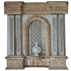 18th Century French Provincial Altar Fragment Mirror