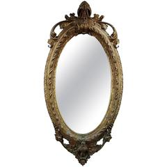 Early Victorian Mirror with Gold Giltwood
