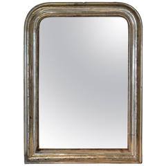 19th Century Louis Philippe French Silver Gilt Mirror