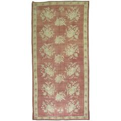 Vintage Turkish Bessarabian Inspired Gallery Size Rug