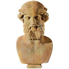 20th Century Plaster Bust of Mythological Figure