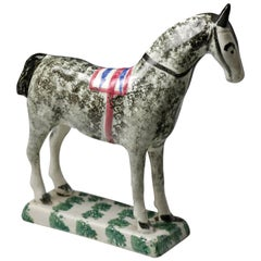 Antique English Pottery Figure of a Horse, St Anthony's Pottery Newcastle