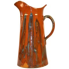 Turn of the Century Earthenware Pitcher 'Brown'