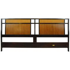 Dunbar King-Size Headboard Edward Wormley Walnut Cane Panels