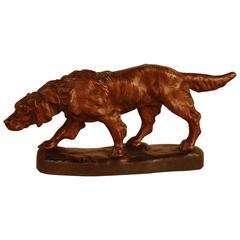 French Bronze of Hunting Dog by T. Cartier
