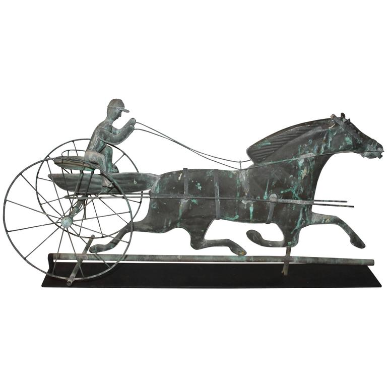 Early 20th Century Mounted Horse and Rider Weathervane For Sale