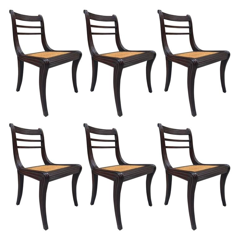 Regency Style Mahogany Dining Chairs For Sale At 1stdibs