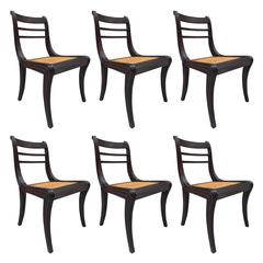 Regency Style Mahogany Dining Chairs