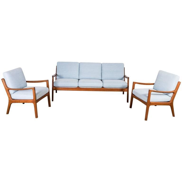 Teak Wood Sofa Set by Ole Wanscher, Denmark, 1951