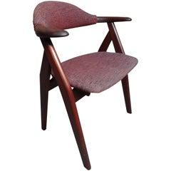 Mid-Century Modern, 1960, Solid Teak Tijsseling Cowhorn Chair