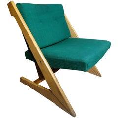 Mid-Century Modern 1960 Stunning Danish Z Design Lounge Chair