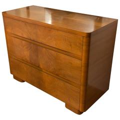 American Walnut Moderne Chest of Drawers