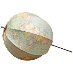 Bett's Portable Terrestrial Globe, London, circa 1920