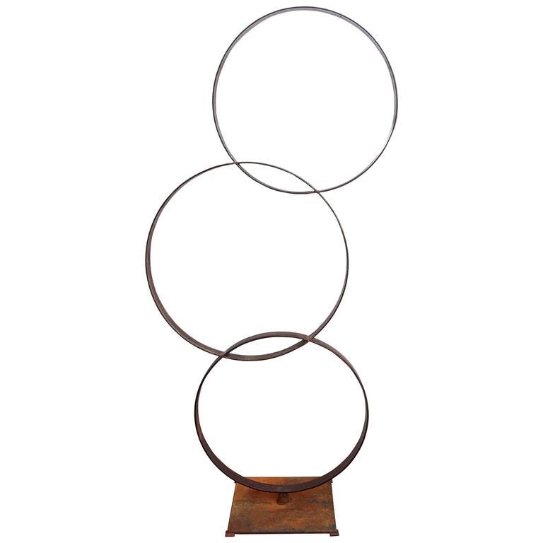 Industrial Rings Sculpture