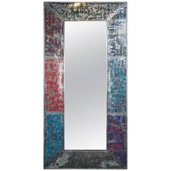 Artistic Colorful Metal Wall Mirror
