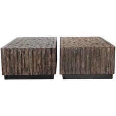 Organic Log Cocktail Tables