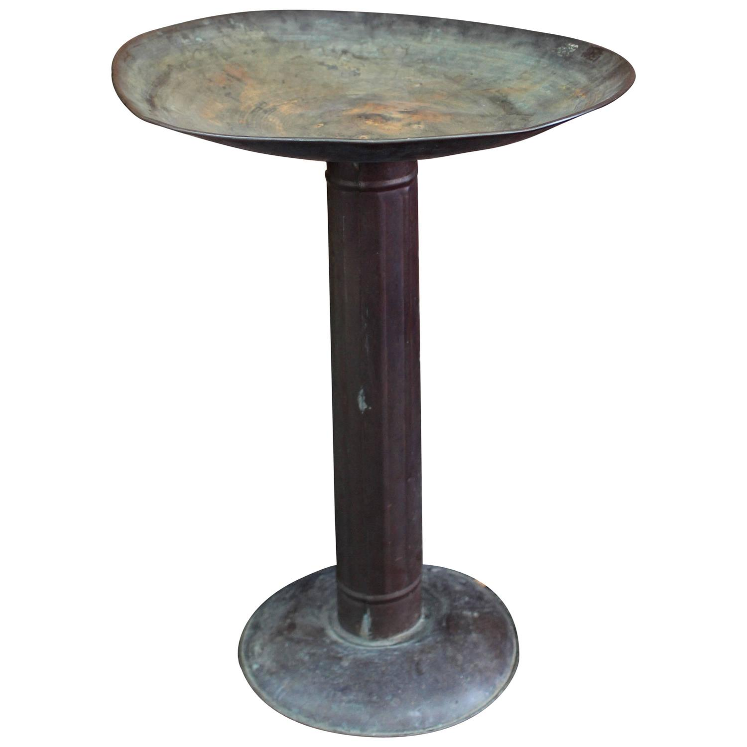 Vintage Copper Bird Bath For Sale At 1stdibs