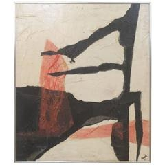 1969 Untitled Mixed-Media on Panel Collage by Ann Purcell