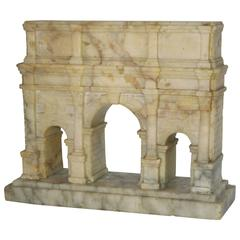 """Grand Tour"" Carved Alabaster Model of the Arch of Constantine"