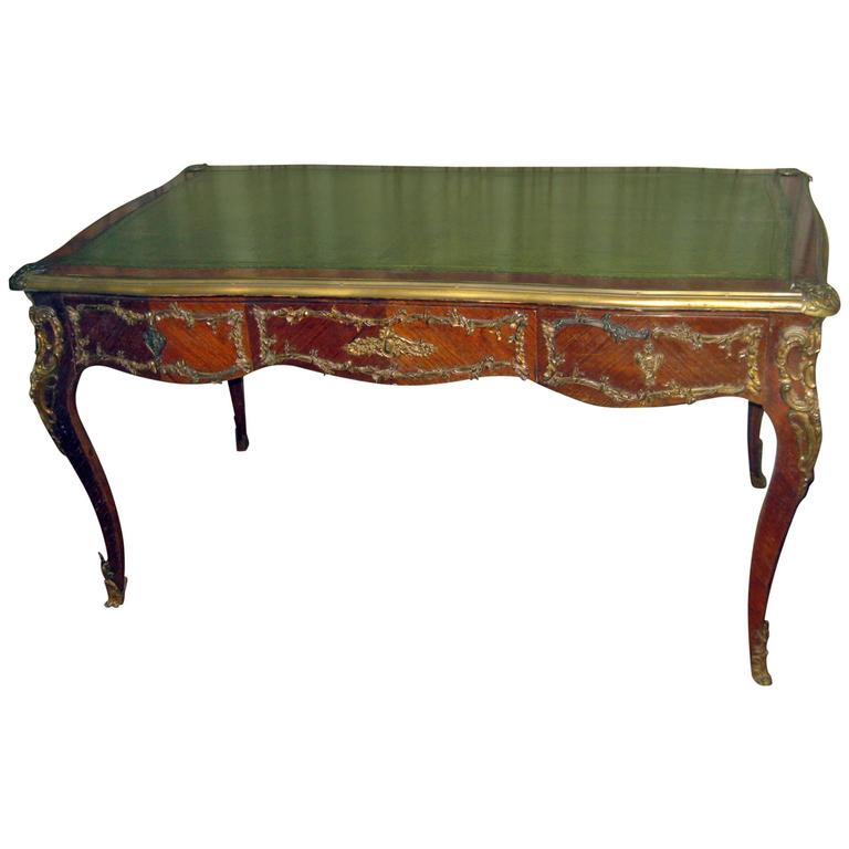 19th Century Louis XV Style Fruitwood Bureau Plat
