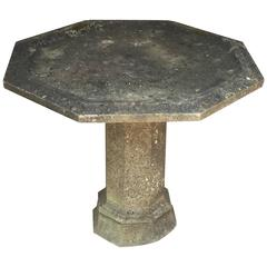 English Garden Stone Table with Octagonal Top