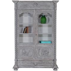 Antique French Henri II Style Painted Bookcase Bibliotheque circa 1875