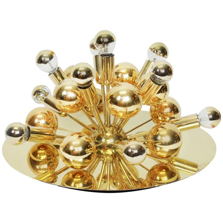 Large Sputnik Flush Mount or Wall Sconce by Cosack, Germany, 1970s