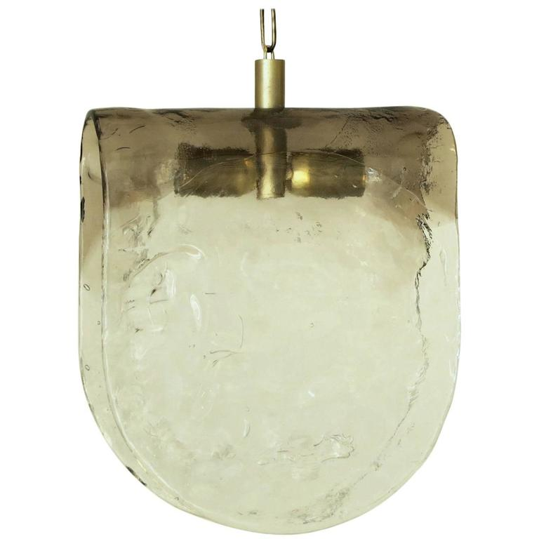 Murano Smoky Pendant by Carlo Nason for Mazzega