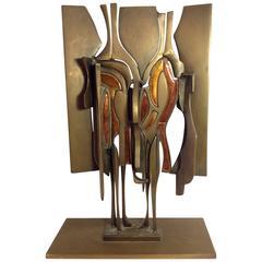Rare Studio Del Campo Brutalist Sculpture