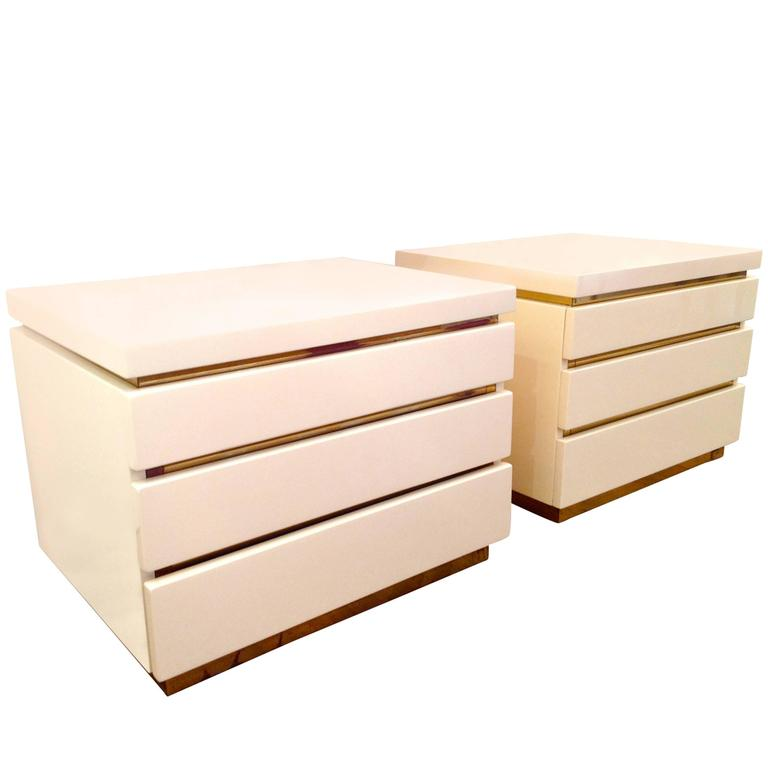 Pair of Jean Claude Mahey Side Table Drawers
