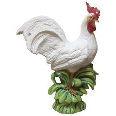 Large Italian Ceramic Rooster
