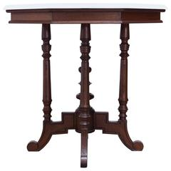 19th Century English Victorian Marble-Top Octagonal Center Table