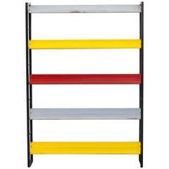 Tomado Multicolored Metal Standing Bookshelf