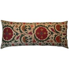 Large Vintage Suzani Pillow