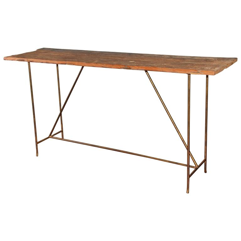 Rustic Organic Elmwood Console Table