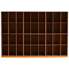 Set of Six Mogens Koch Bookcases in Teak