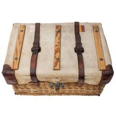 20th Century Belgian-Congo Wicker Mail Basket