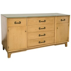 Century Credenza, Light Wood Finish