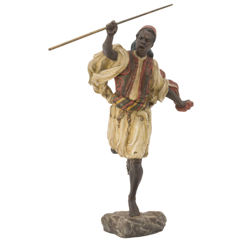 """Vienna Bronze """"Moorish Warrior"""" by Franz Xaver Bergman"""