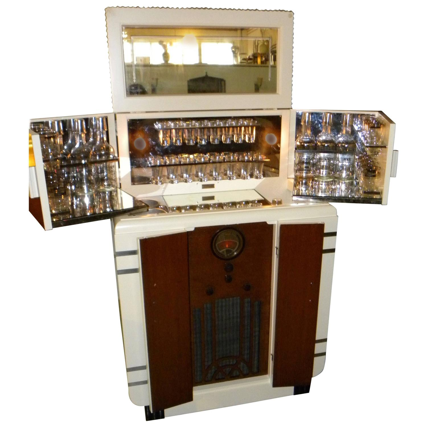 rare art deco philco radio bar for sale at 1stdibs. Black Bedroom Furniture Sets. Home Design Ideas