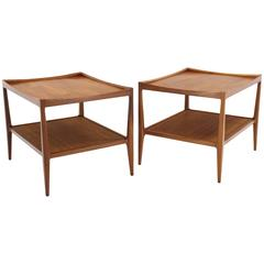 Pair of Nice Walnut End Tables
