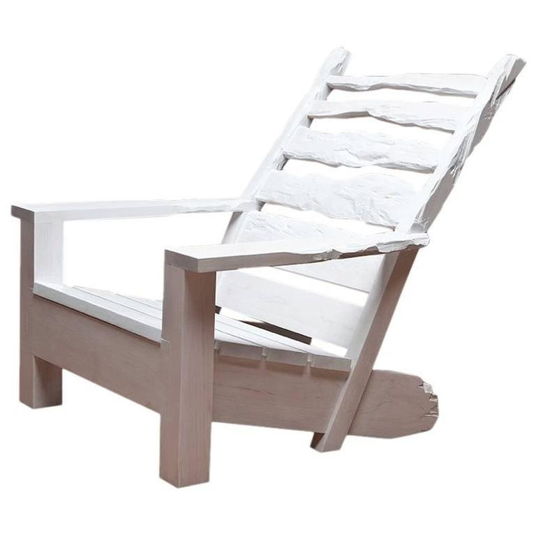 White Washed Maple Sunday Chair For Sale