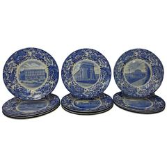 Wedgwood China Massachusetts Institute of Technology Complete Set of 12 Plates