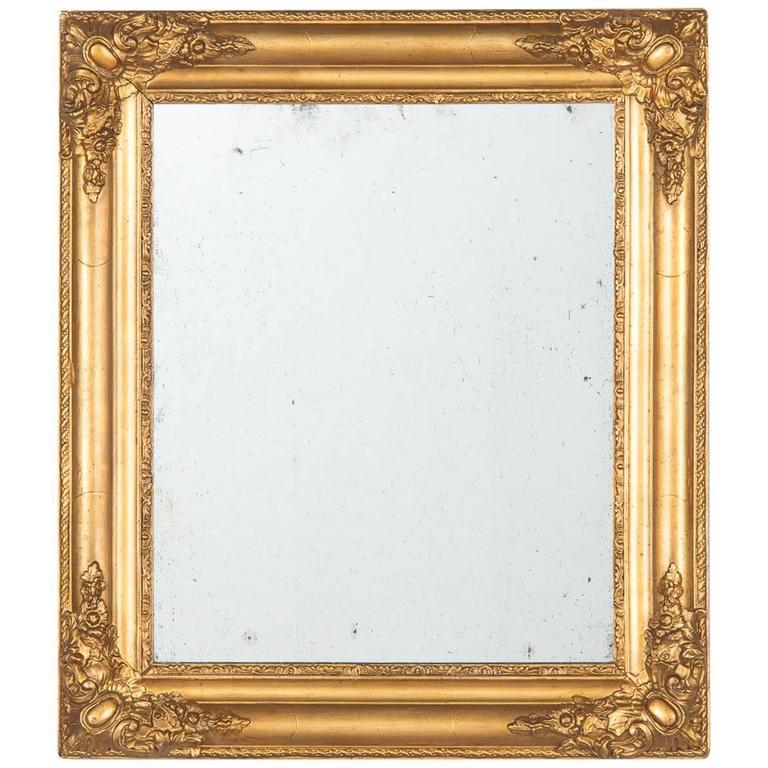 French Napoleon III Giltwood Mirror, circa 1870s 1
