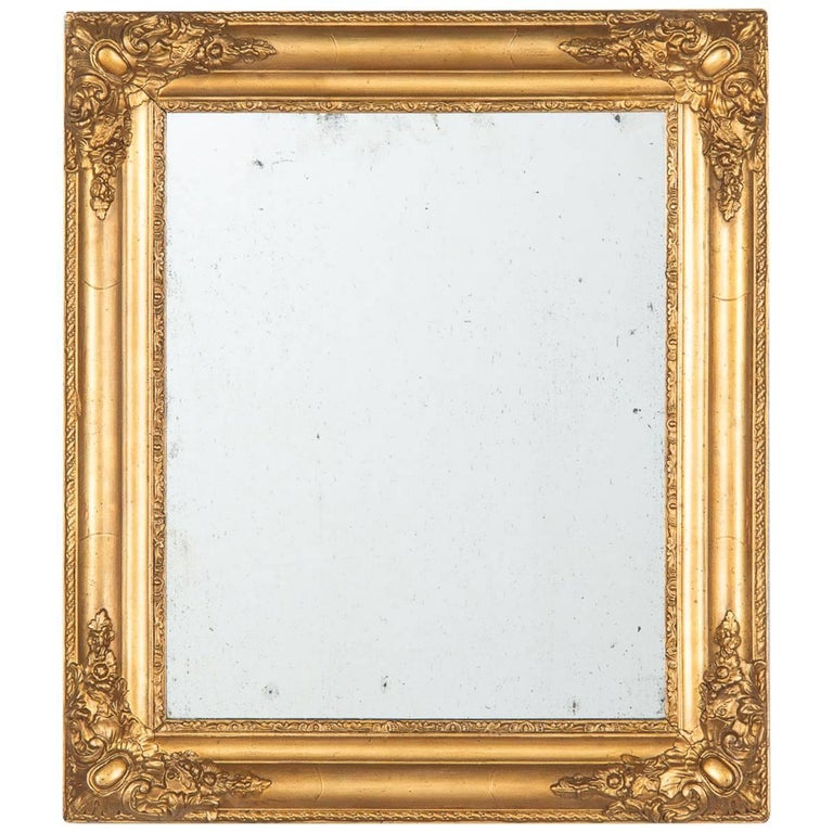 French Napoleon III Giltwood Mirror, circa 1870s For Sale