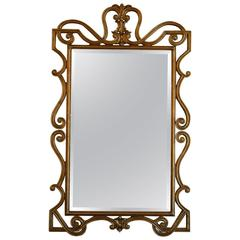 Hand-Carved Neoclassical Mirror