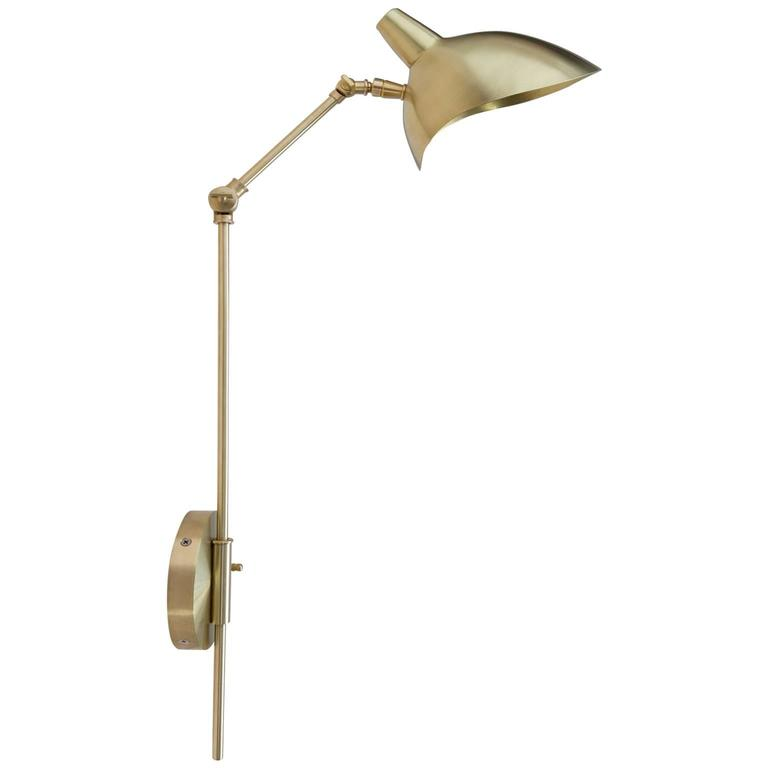Custom Metal Wall Sconces : Brass Swivel Custom-Made Metal Wall Sconce For Sale at 1stdibs