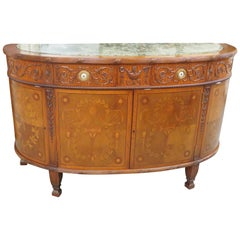 Irwin Marble-Top Inlaid Commode
