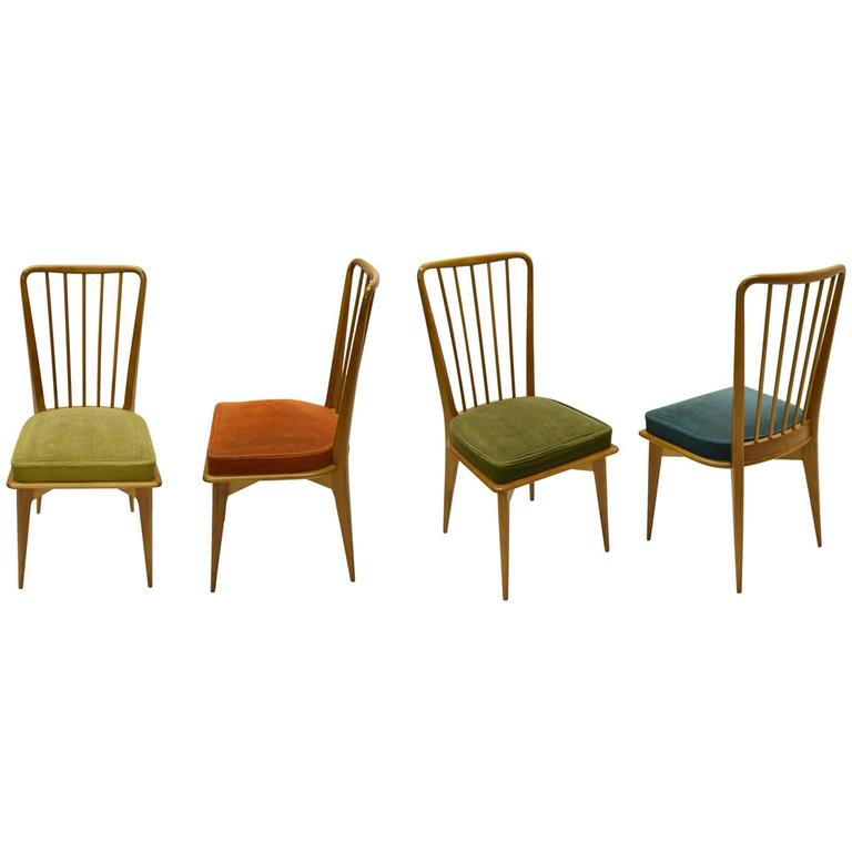 Four Chairs for Dining or Game Table Circa 1950 Denmark